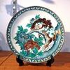 九谷焼の大皿、唐獅子牡丹
