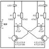 非安定マルチバイブレータ回路でLEDを点滅させてみる