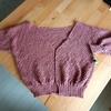 鹿の子編みカーディガン2週間後の進捗。【2目ゴム編みとゴム編み止め】