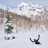 焼岳にて雪深過ぎて無念の敗退