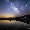 【天体撮影記 第55夜】 新潟県 星峠 蛙鳴く、棚田の上に輝く、天の川