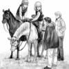 大矢純子さんの連載小説『ハロー、マイフレンズ』の挿絵のお仕事