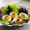 イースタの朝ごはん卵はスパイス入りデビルドエッグ #世界の朝ごはん #スパイスアンバサダー