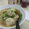 香港地元飯:ワンタン麺 (自由麺食、銅鑼湾)