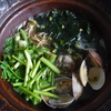48冊目『〆まで楽しむおつまみ小鍋』から最終回はわかめとセリ、あさりの鍋