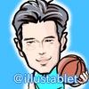 iPadproで描いた NBA渡邉雄太選手の似顔絵。