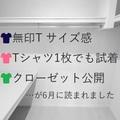 【無印Tシャツ サイズ感】【Tシャツ1枚でも試着】【クローゼット公開】が読まれました