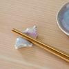 【華桜】うのふ釉・桜花釉の箸置き【陶器製】