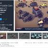 【無料化アセット】兵器スタイルに魔改造された車&バギーの3Dモデル。高火力な銃火器、世紀末っぽいバンパー、有刺鉄線付きタイヤなど搭載「Stylized Customizable Cars (post apo v1)」