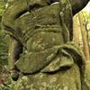 肋骨が数珠玉であらわされる仁王像 大分県国東市国東町大恩寺