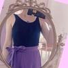 ふんわり綺麗色★パープル スカート