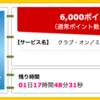 【ハピタス】ANAマイルも高効率で貯められるクラブ・オン/ミレニアムカード セゾンで6,000ポイント!