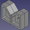 FreeCADでVブロックをモデリングした。