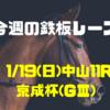 【今週の鉄板レース】1/19(日) 中山11R 京成杯(GⅢ)