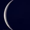 有明の薄月(月齢27.050)