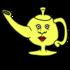 魔法のランプ のイラスト