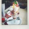 デニーズ「ふじ林檎のミルクプリンサンデー」