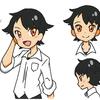 オリキャラらくがき・黒髪少年。