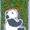 寒くなると暖かくなる パンダのイラスト