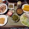 今日の晩ごはんは、実家で家庭料理