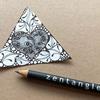 【Zentangle】ハートのゼンタングルとインクトーバー・タングレス