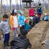 森のお遊び会 4月 麦の種まき