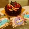 12月のBDケーキ(*^▽^)/★*☆♪紅茶のブリュレとチョコレートムース&アイシングクッキープレート♪