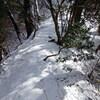 氷瀑を見に、再度紅葉谷へ(その3)白竜滝尾根道