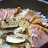 合鴨と松茸の炊き込みご飯