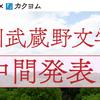 第1回角川武蔵野文学賞 最終選考対象作品を発表しました