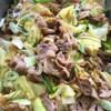 豚肉とキャベツ ねぎのみそ炒め