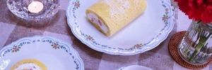 【60代主婦の日常】おやつにイチゴのロールケーキを作りました。