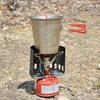 ガス缶に固定できる風防:クリップオン ウィンドシールド