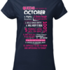 Lovely Queens are born in october 10 reasons shirt