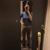 玄関に全身鏡として、シール式のミラーを貼ってみました