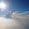 8月に機内から撮影した写真