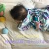 ねんねの赤ちゃんと着物のおしゃれを楽しむには?3-大きめの赤ちゃん甚平で浴衣風