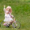 ドールにも自転車を!!約1/4サイズのミニチュア自転車をリペイントしてみました~!