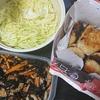コロッケ、ひじき煮、味噌汁