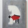 新しく絵を描きました。コーナーに座る赤トランクスの熊のボクサー