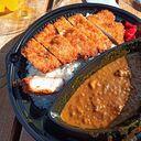 湊川の鬼平コロッケさんの三元豚カツぼっかけカレーお腹膨れます。