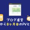 【ブログ運営】ブログ開始から8ヶ月目のPVと収益!5万PV維持はラスト3日間の奇跡
