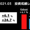 21年3月My 個別株PF【+6%】2021年3月の米国株資産推移