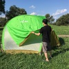 利根川ゆうゆう公園でアストロドーム、ムーンライト7型を干しながら燻製作り