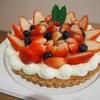 イチゴタルトと生シフォンケーキ