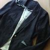 DIY 麻のジャケットを和風に