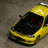 【モデルインプレッション】 Hobby JAPAN 1/64 Honda Civic Type R Customized Ver. (EK9/Sunlight Yellow)