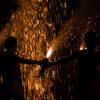 炎の雨に打たれて・・・AF-S28-300mmで愛知県知立市秋葉祭りの手筒花火を撮ってみた!!