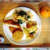 鶏肉とほうれん草のペンネ、ジャーマンポテト、ヒレカツ、みかん