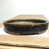 ツイッターと万古春山(笹岡基三)の楕円鉢